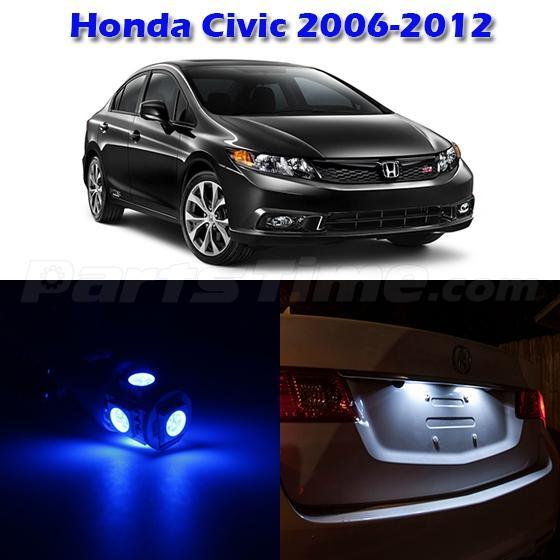6 Blue Interior Package Led Light Combo For Honda Civic 2006 2012 W Free Tool Ebay
