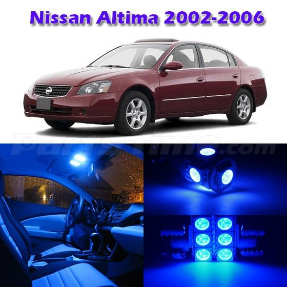 7 Blue Led Map Dome Step Interior Light Packag Deal For 2002 2006 Nissan Altima Ebay