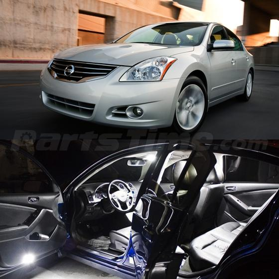 14 x xenon white led lights interior package for 2007 2012 - 2006 nissan altima interior lights ...