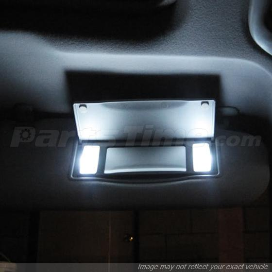 Vanity Light For Car Visor : 4x White Mirrior Bulbs 3 SMD 6641 6614F Fuse LED Sun Visor Vanity Mirror Lights eBay