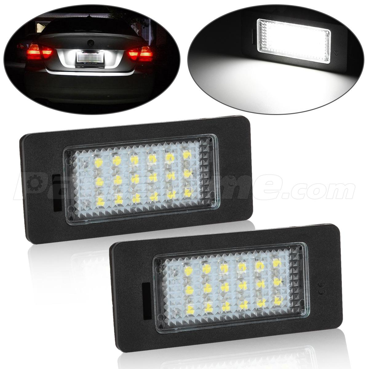 2xNo Error LED LICENSE PLATE LIGHT LED REPLACEMENT FOR