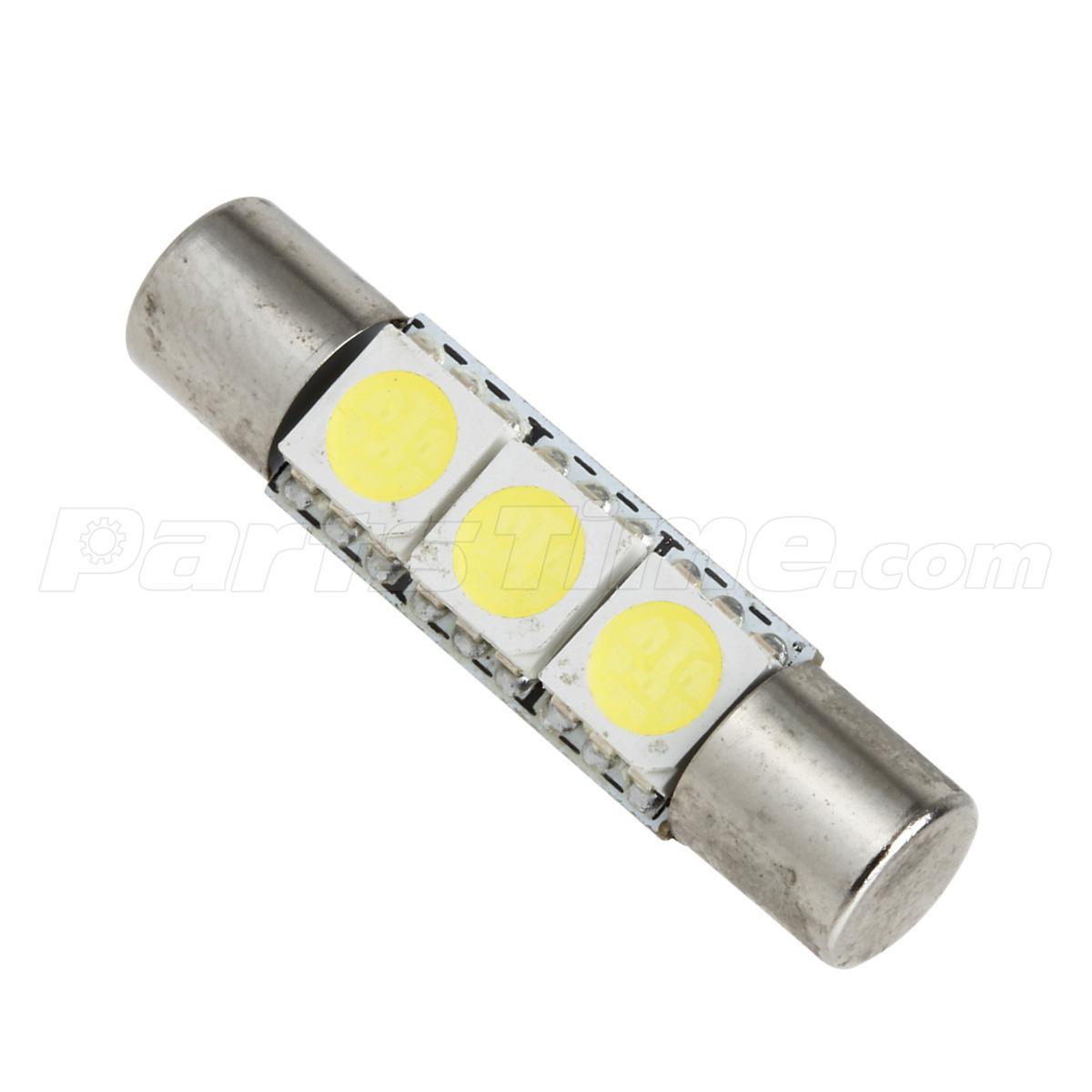 10x Xenon White 3SMD 5050 LED Bulbs Interior Sun Visor Vanity Mirror Lights 6641 eBay