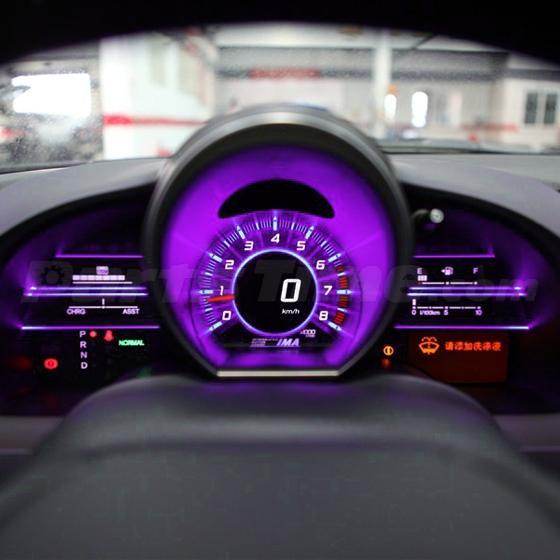 6pcs Pink Purple 194 T10 LED Bulbs W/Sockets Instrument