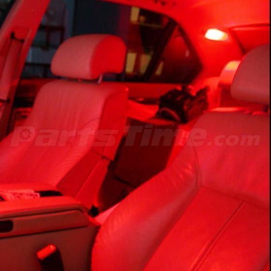 6x Red 6smd Led Map Dome Interior Lights Bulbs Bulb 28mm Festoon Ebay