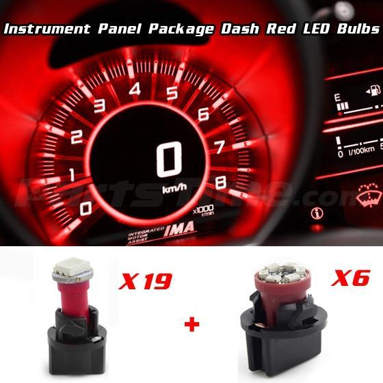 60x T5 74 Led Dashboard Speedometer Gauge Indicator Light: Dash Gauges Instrument Cluster Red Bulbs Repair Package