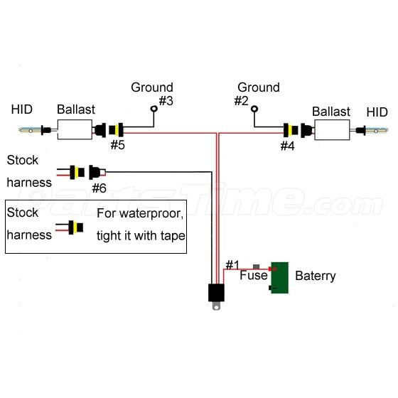 5202 h16 xenon hid relay wire harness conversion kit for fog light not for 2014 vehicles h16 bulb