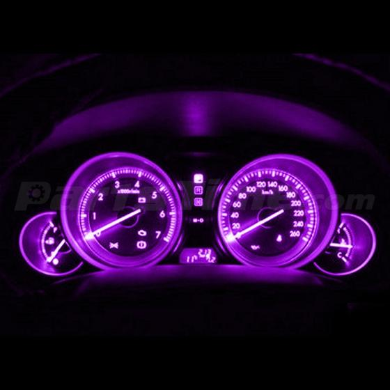 10 Pink Purple T10 Wedge Gauge Cluster Instrument Panel Speed Light Led Bulbs Ebay