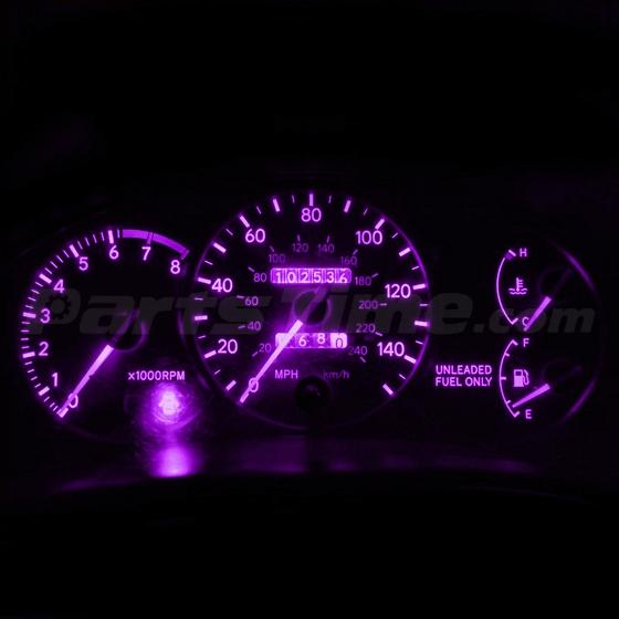 10 Pink Purple T10 Wedge Gauge Cluster Instrument Panel