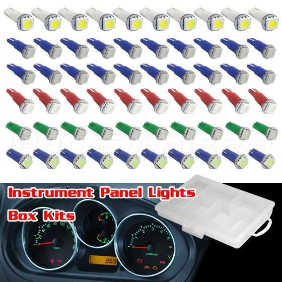 60x T5 74 Led Dashboard Speedometer Gauge Indicator Light: 60x T5 5050-SMD LED Instrument Panel Gauge Courtesy Light