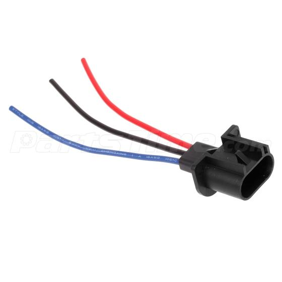 4 Pcs 9008 H13 Headlamp Wiring Adapter Socket Male End