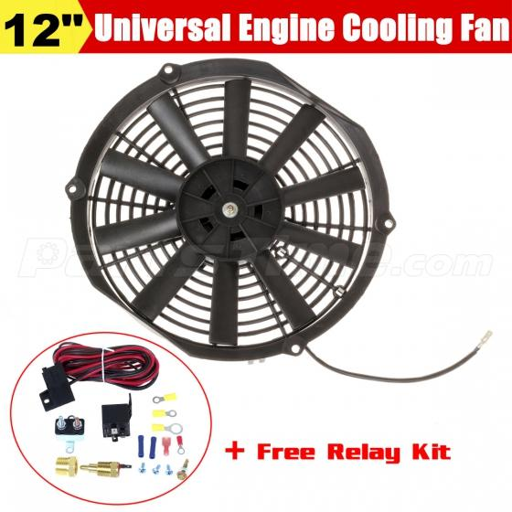 12 electric engine fan 200 to 185 degree thermostat 50 amp relay relay kit ebay - Four 200 degres thermostat ...