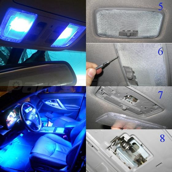 4x blue led car interior dome map lights 31mm festoon - Blue light bulbs for car interior ...