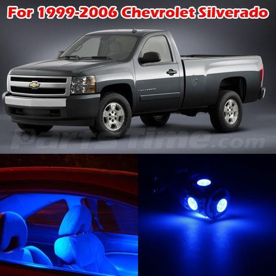 13x Blue Led Light Interior Bulbs Package For 1999 2006 Chevrolet Silverado Ebay