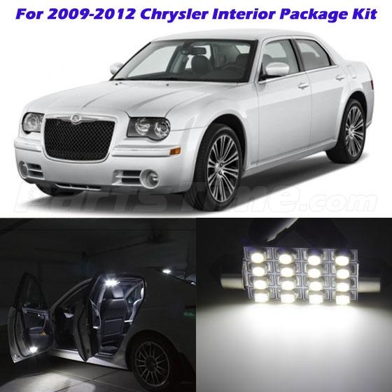 15x Deluxe White LED Lights Interior Package Kit For 2009