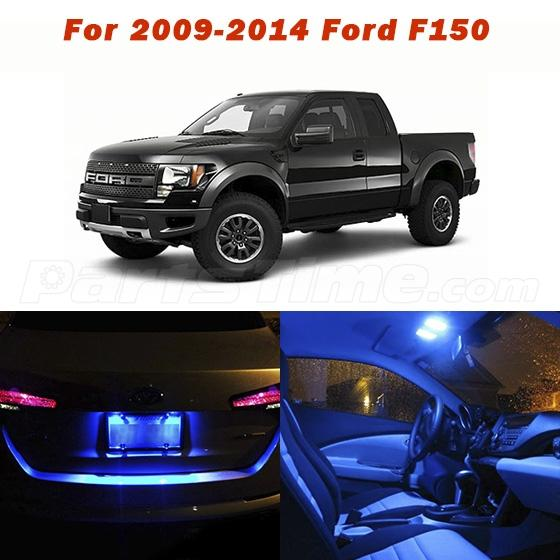 10x Blue Interior Led Lights Replacement Package Kit Fit: 11x Blue Lights SMD LED Interior Package Kit For 2009-2014