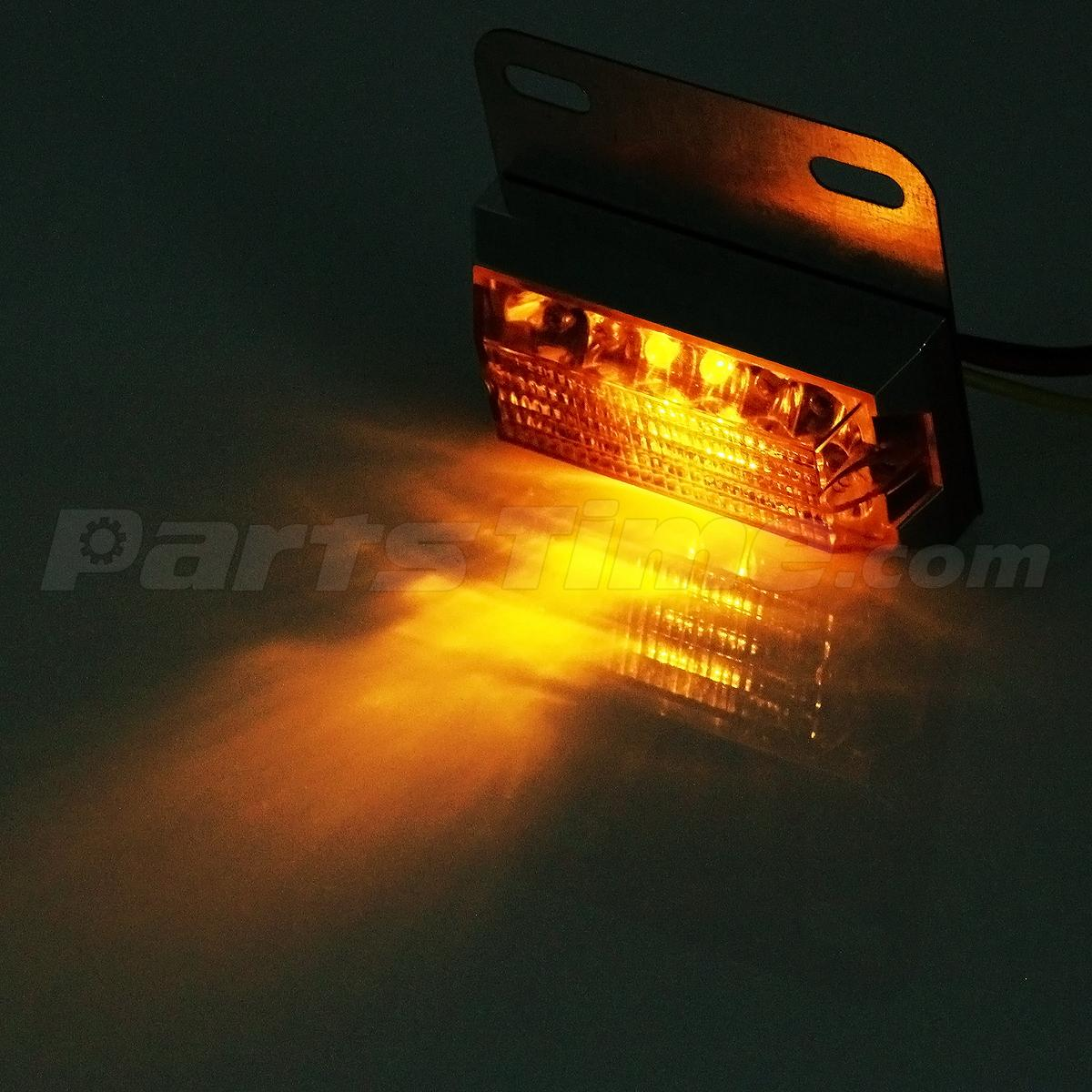 Commercial Vehicle Lighting: 2xAmber 12LED Side Marker Light 12V Commercial Vehicle Off