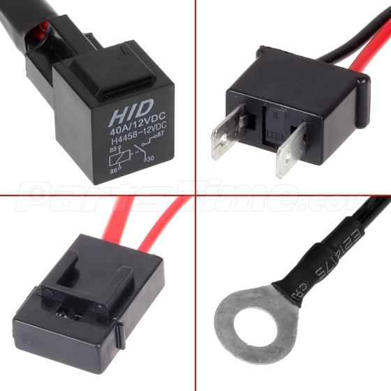 H hid conversion kit relay wiring harness for fog light