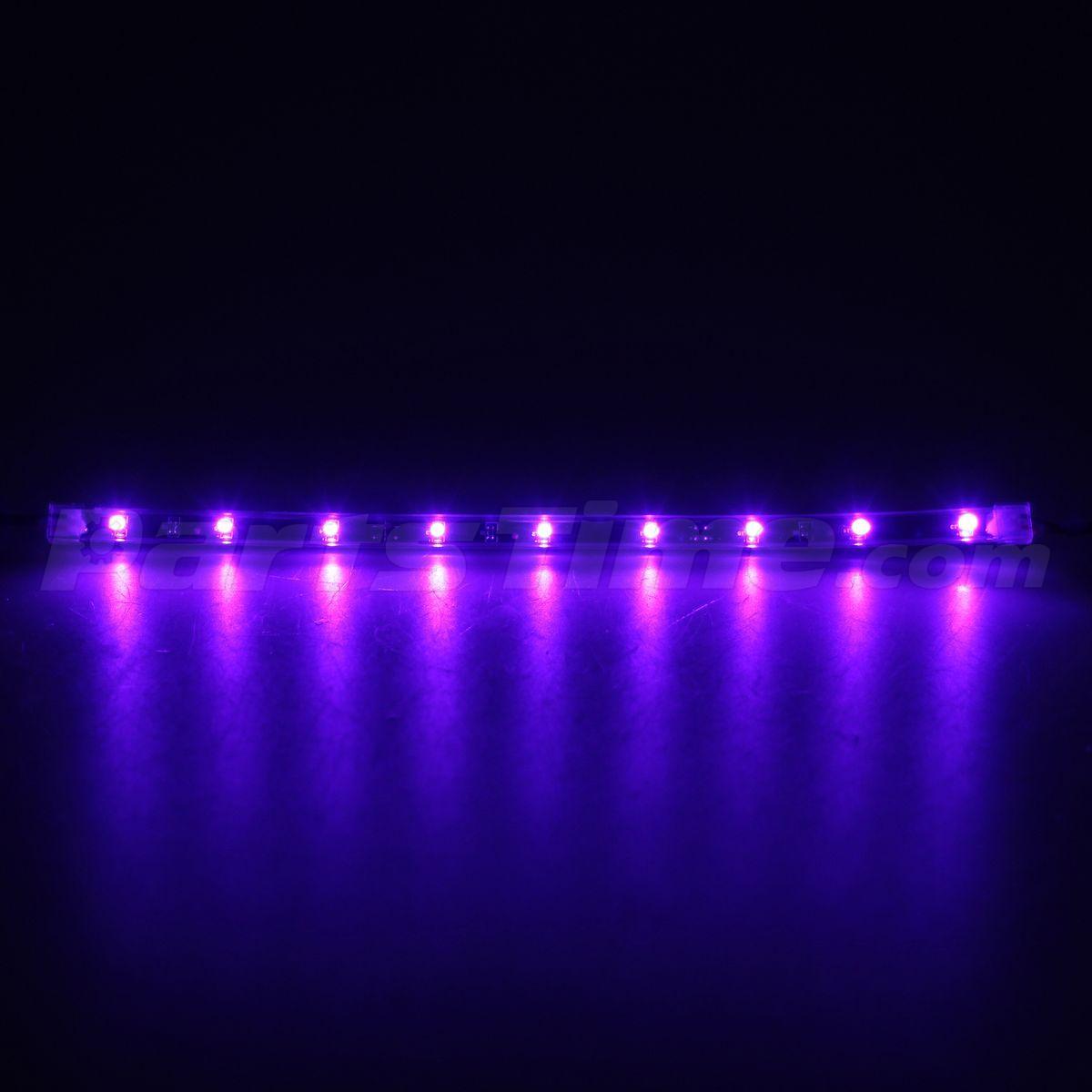 4x 12 New Purple Flexible Footwell Interior Led Underdash Strip Light Bulbs Smd Ebay
