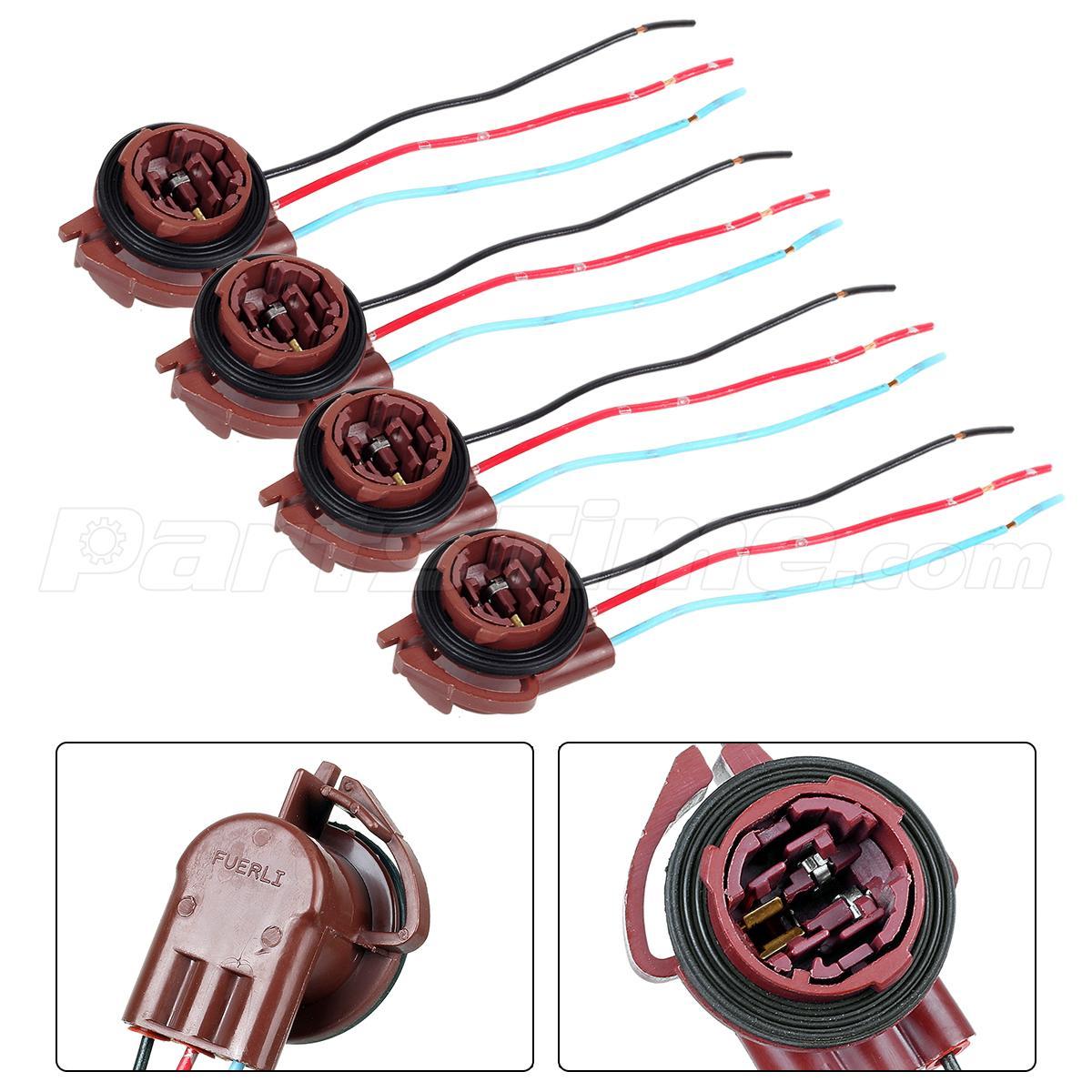 4x 3157 3057 3156 4157 turn signal brake light female ATV Wiring Harness Throttle Cable Hanmar9 ATV 110Cc Starter Wiring Harness