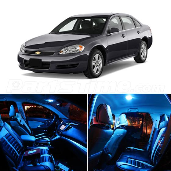 7x Ice Blue LED Package For Chevrolet Impala 2006-2013