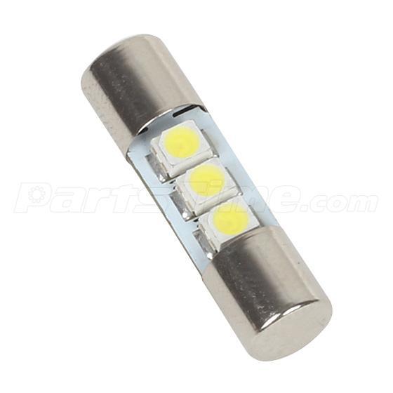 2x xenon white 3 3528 smd led bulbs for car vanity mirror lights sun visor lamp ebay. Black Bedroom Furniture Sets. Home Design Ideas