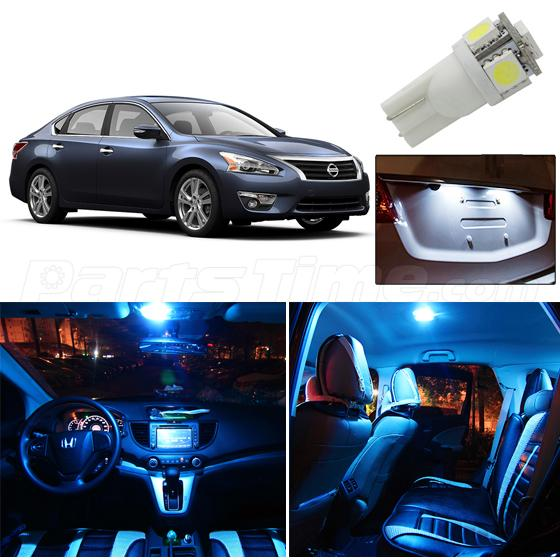 11x ice blue for 2013 2015 nissan altima sedan interior license plate led lights ebay 2015 nissan altima interior lights