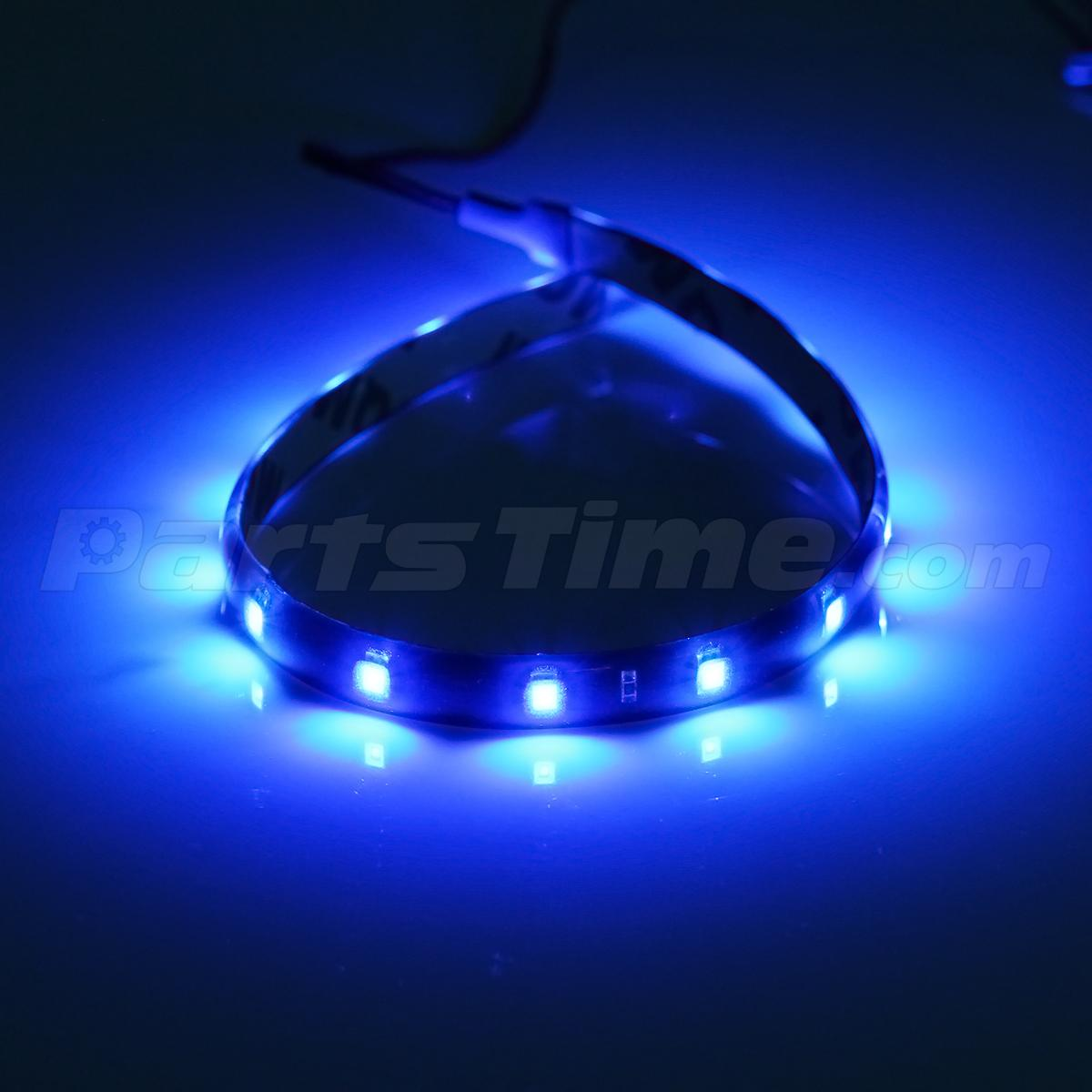 4x car interior under dash floor decorative led lights strip blue 30cm 15smd ebay. Black Bedroom Furniture Sets. Home Design Ideas
