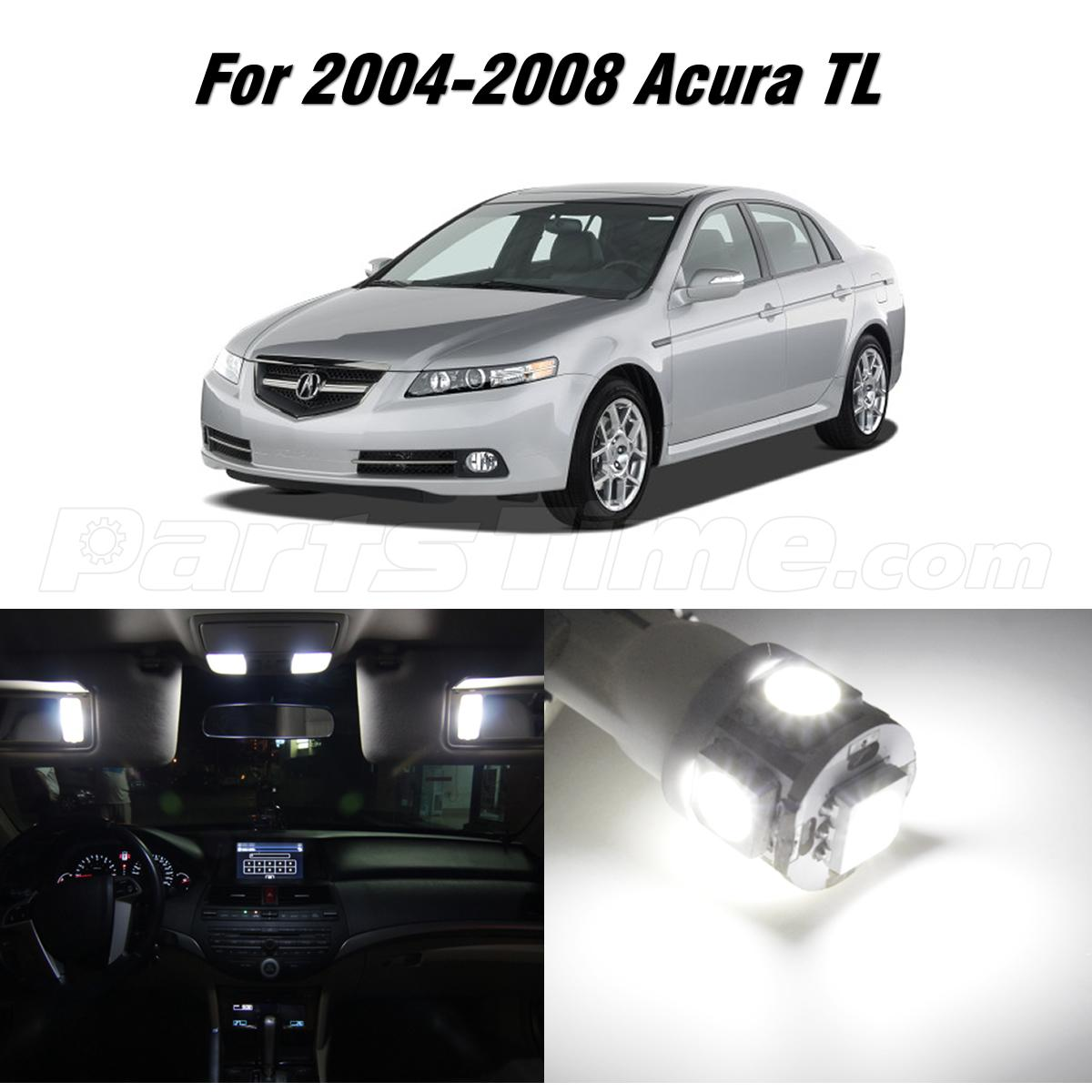 12x xenon white led package kit bulbs car interior lights - 2004 acura tl led interior lights ...