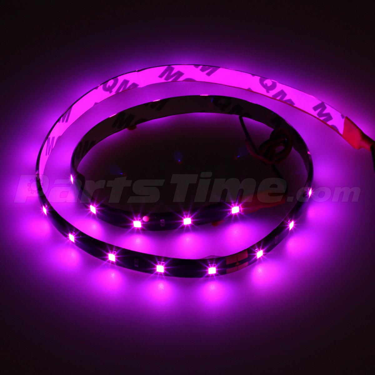 4x car vehicle interior 12v pink purple 3528 smd 30led flexible strip light 60cm. Black Bedroom Furniture Sets. Home Design Ideas