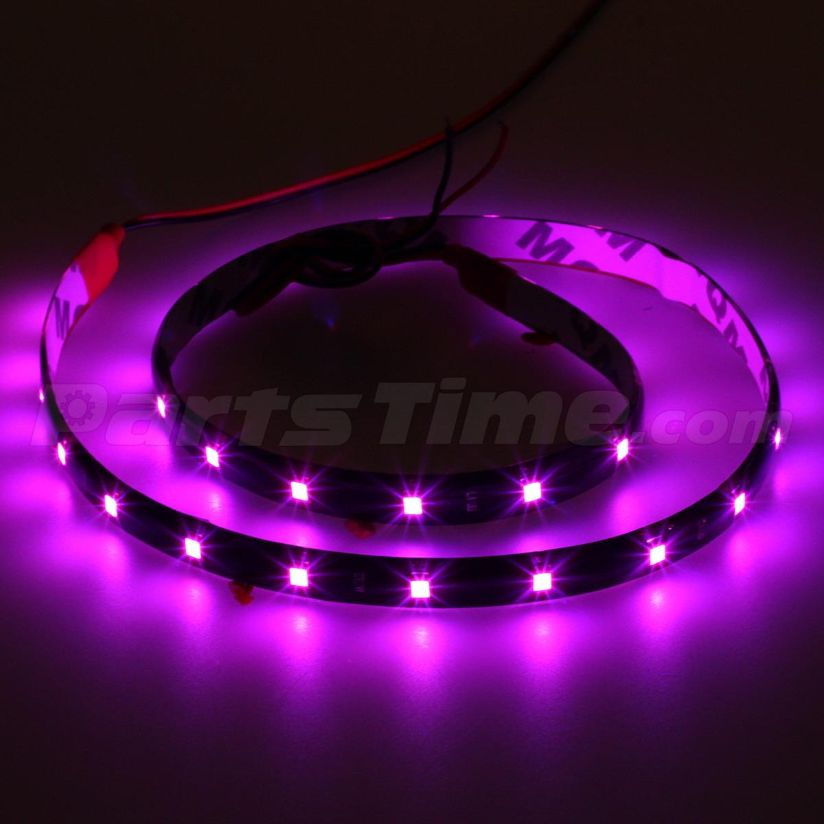 4x car vehicle interior 12v pink purple 3528 smd 30led flexible strip light 60cm ebay. Black Bedroom Furniture Sets. Home Design Ideas