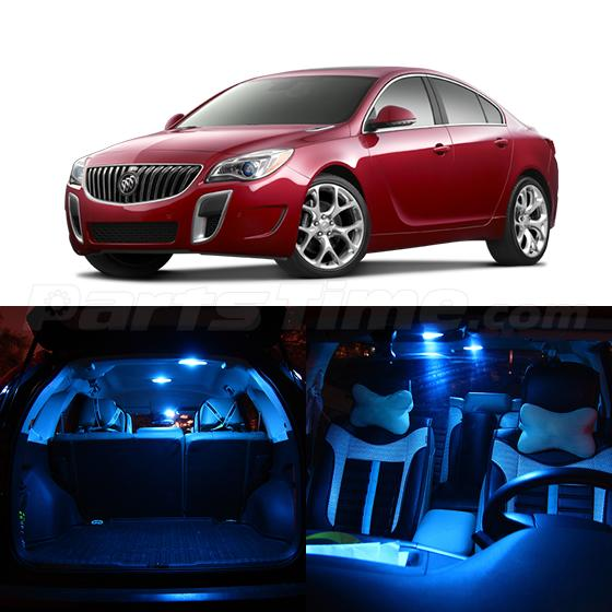 15 ice blue led interior package fits for buick regal. Black Bedroom Furniture Sets. Home Design Ideas
