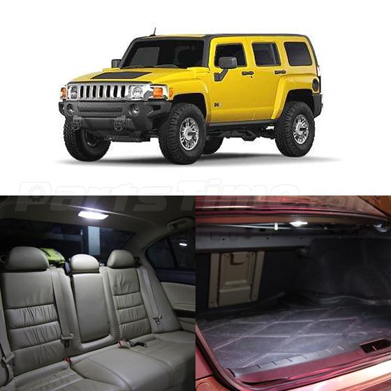 14x White Led Interior Package For Hummer H3 Interior Tag Lights Ebay