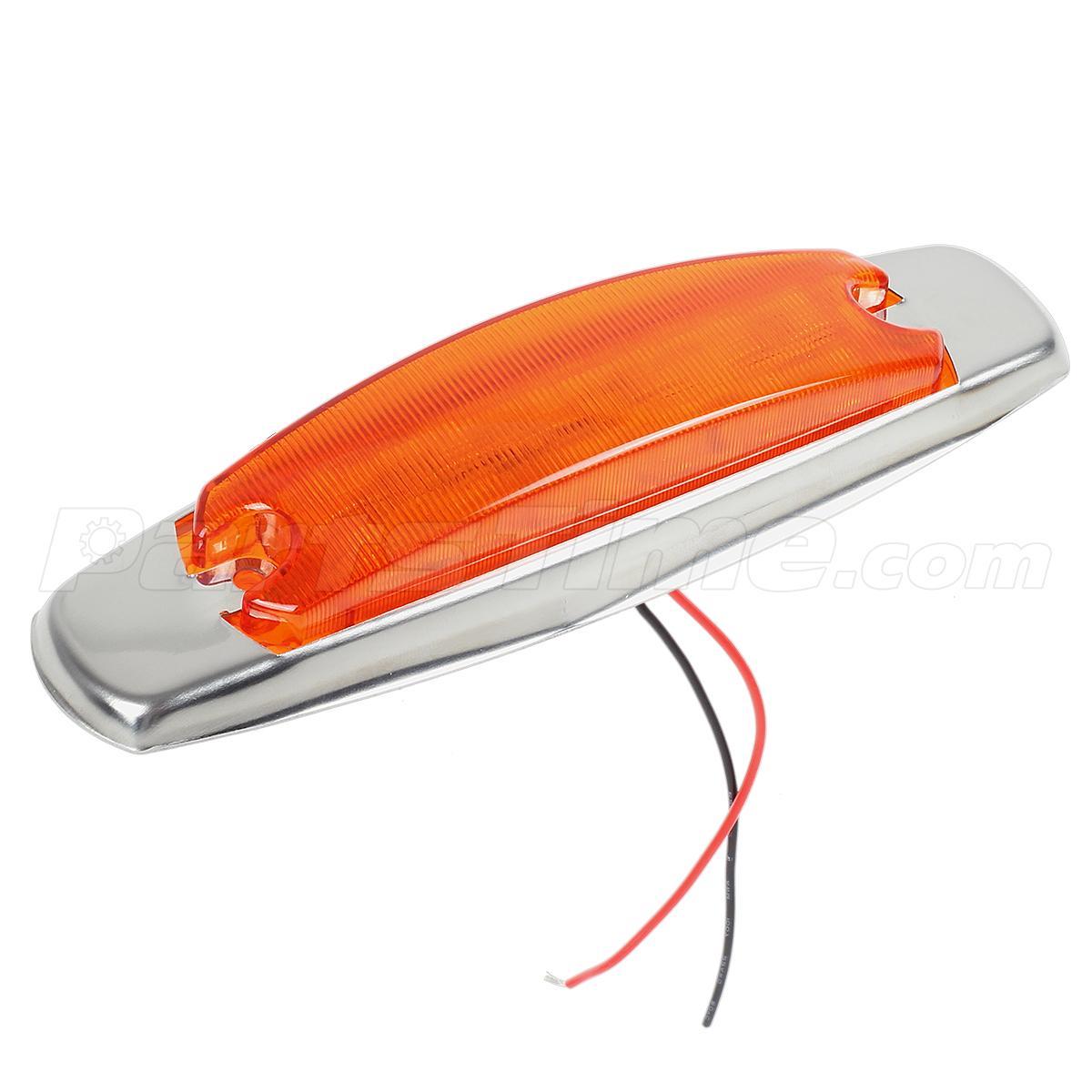 10pcs amber 12 diodes peterbilt style led marker light. Black Bedroom Furniture Sets. Home Design Ideas