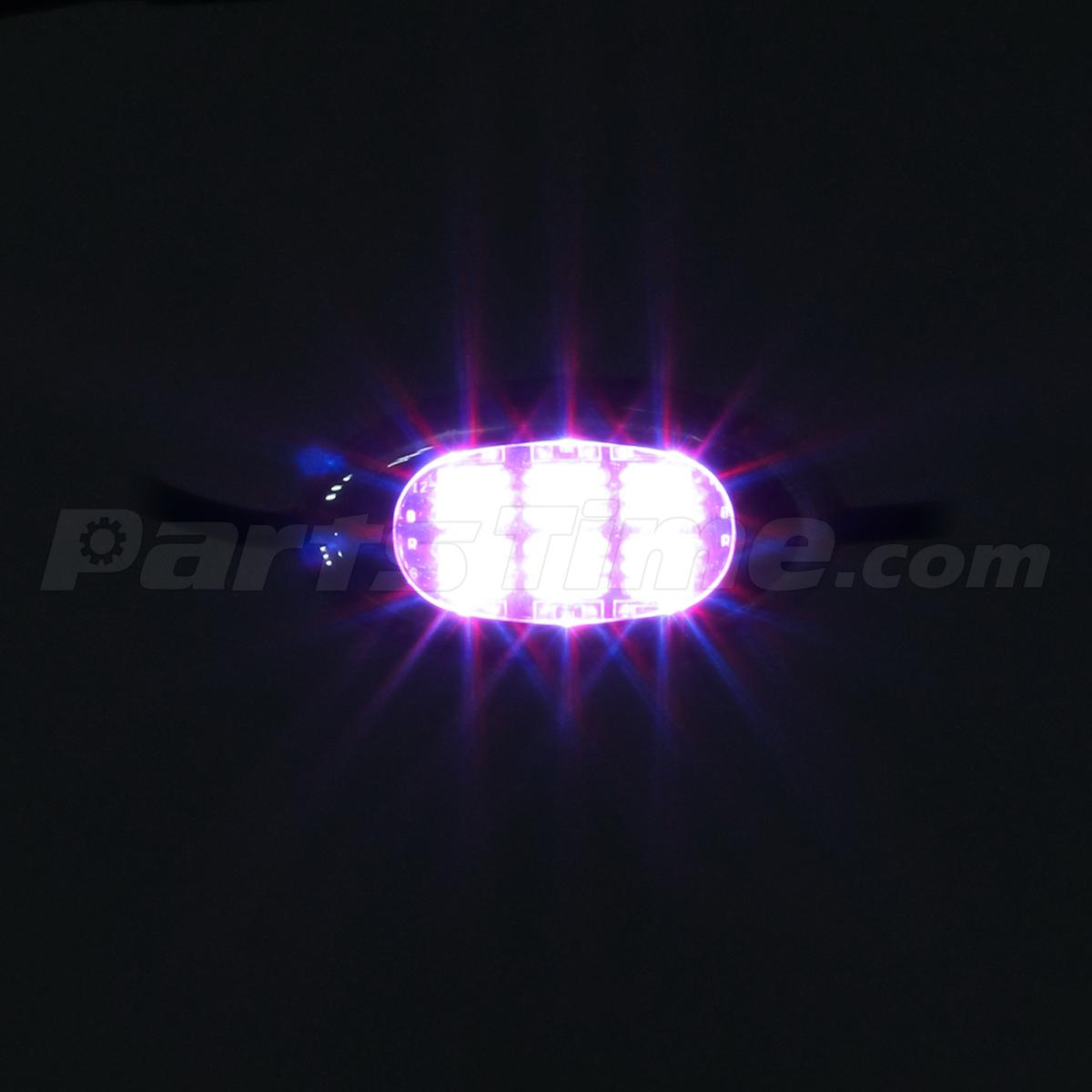 60led purple custom motorcycle underglow accent neon 10 chrome pod lighting kit ebay - Underglow neon ...